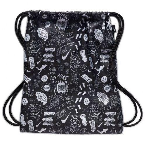 Nike Sportswear Plecak na sznurkach czarny / biały, BA6009010