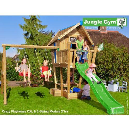 Drewniany plac zabaw dla dzieci domek cwanego marki Jungle gym