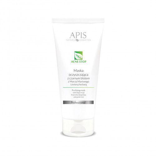 APIS Professional - Maska oczyszczająca z czarnym błotem z Morza Martwego i zieloną herbatą 200 ml (5901810000028)