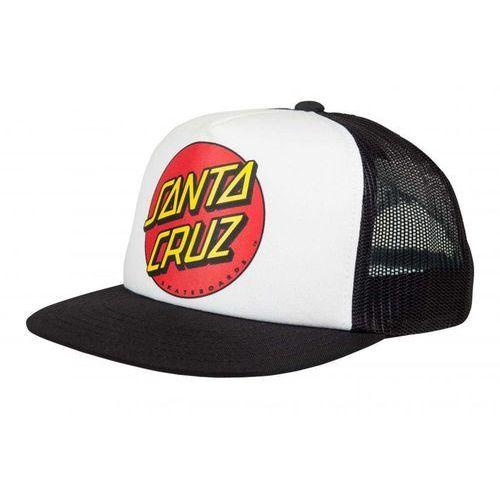 czapka z daszkiem SANTA CRUZ - Youth Classic Dot Cap White/Black (WHITE-BLACK)