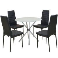 Vidaxl  zestaw mebli do jadalni 5 elementów, stół i krzesła (8718475970286)