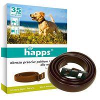 Happs Obroża na kleszcze dla psa małego 35cm. Obroża na pchły.