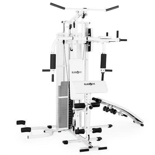 Klarfit Ultimate Gym 5000 Wielofunkcyjny atlas Stanowisko treningowe biały