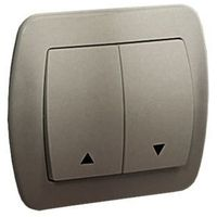 Simon akord przycisk żaluzjowy 10ax, 250v~, zaciski śrubowe; satynowy az1/29 wmal-440xxx-h012 marki Kontakt - simon