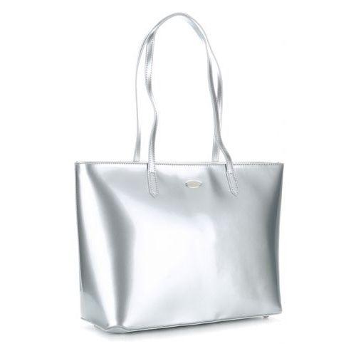 3feb6210aa46a Zobacz ofertę Eleganckie torebki damskie firmy w rozmiarze xl lakierowana  srebrna David jones