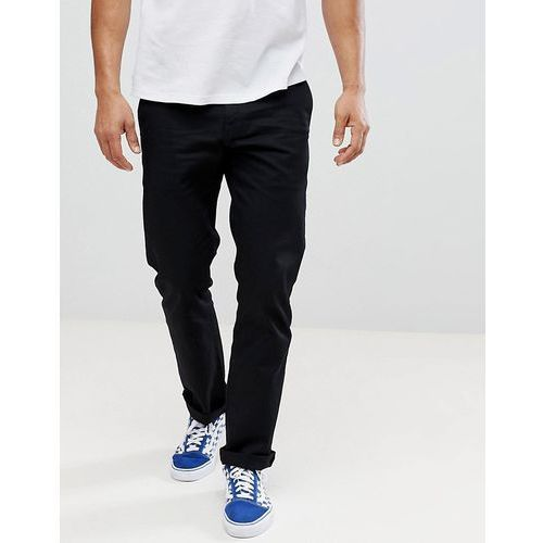 Volcom Frickin Chinos In Straight Fit In Black - Black