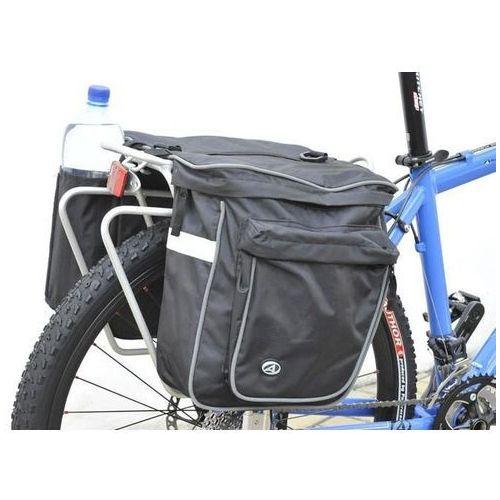 15-000016 Sakwy na bagażnik Author Cargo 20l czarne z pokrowcem (8590816024397)