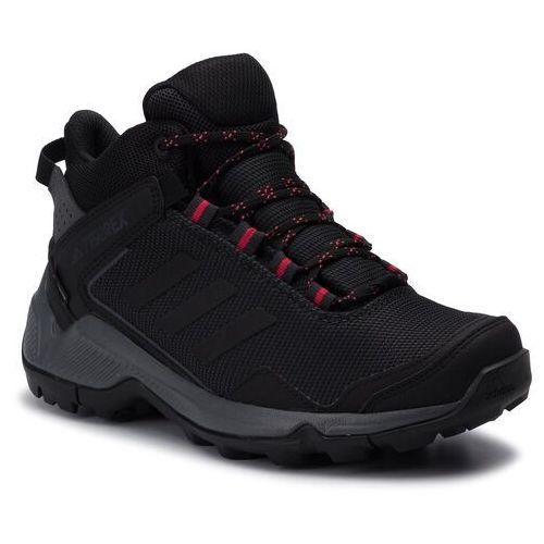 Buty adidas - Terrex Eastrail Mid Gtx W GORE-TEX F36761 Carbon/Cblack/Actpnk, kolor czarny