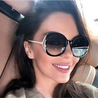 Okulary przeciwsłoneczne damskie okrągłe czarne