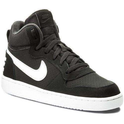Nike Buty - nike court borough mid (gs) 839977 004 black/white