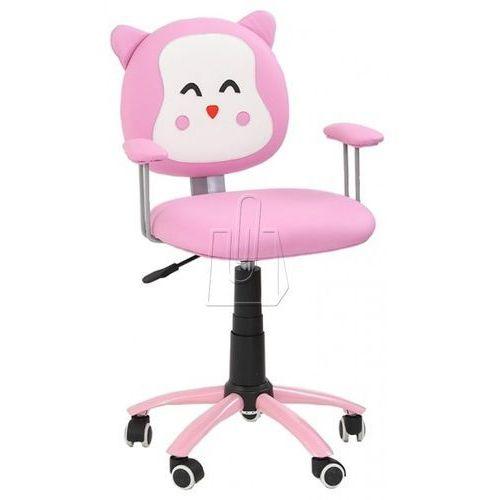 Fotel młodzieżowy kitty różowy marki Halmar