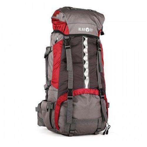 739920d46cb05 Klarfit Heyerdahl plecak trekkingowy 70L system X-Transition ładowany od  góry czerwony