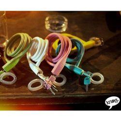 Zamknięcie spiralne na klucz party coil 130cm/10mm białe marki Knog