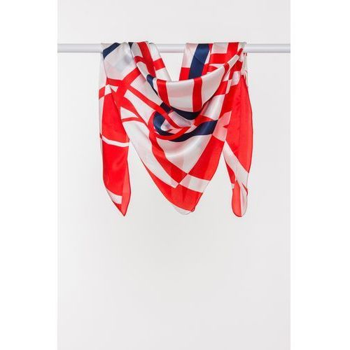 profesjonalna sprzedaż kup tanio cienie Apaszka jedwabna w granatowo-czerwone wzory (Jedwab Polski)
