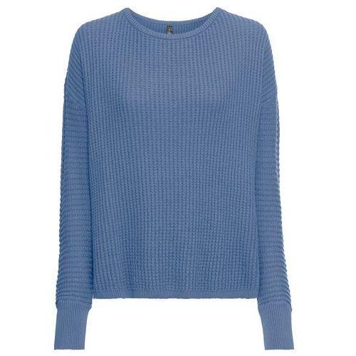 72ac5c800e7fae Sweter dzianinowy bonprix niebieski dżins