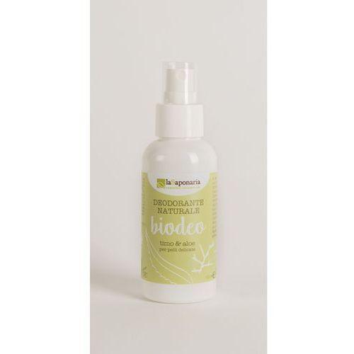 Naturalny Bio Dezodorant bez aluminium i alkoholu Tymianek, Szałwia, Aloes La Saponaria 100ml