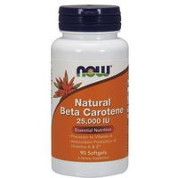 Now Foods Natural Beta Carotene (Beta Karoten) 25,000IU 90 kaps.