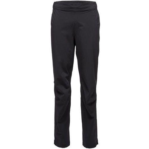 BLACK DIAMOND Spodnie męskie przeciwdeszczowe STORMLINE STRETCH RAIN - rozmiar M - kolor czarny, kolor czarny