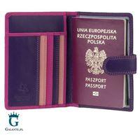 Kolorowe skórzane etui na paszport visconti rb-75 rfid