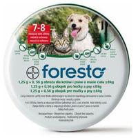 Bayer Foresto obroża przeciw pchłom i kleszczom dla psów i kotów o wadze do 8kg [