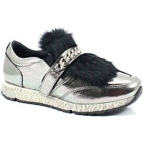 278973r94 srebrne - sneakersy z futerkiem marki Venezia