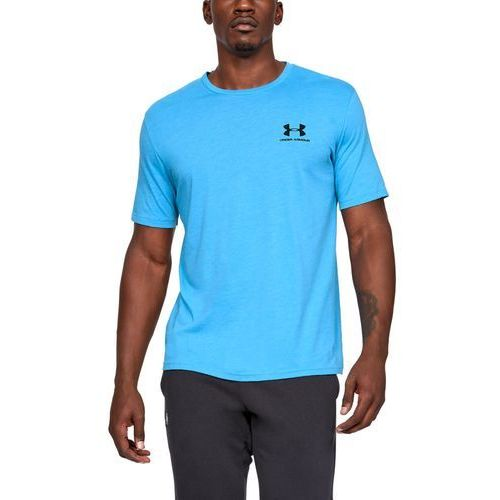 Under Armour Koszulka SPORTSTYLE LEFT CHEST SS Niebieska - Niebieski