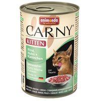 ANIMONDA Carny Kitten smak: wołowina, kurczak i królik 6x400g