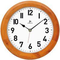 Lowell zegar ścienny 21034C, kasztanowy, kolor brązowy