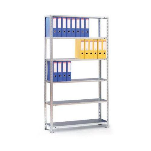 Regał na segregatory COMPACT, 7 półek, 2200x1250x300 mm, szary, podstawowy