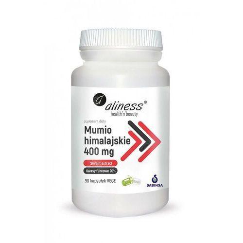 Kapsułki Mumio himalaskie Shilajit extrakt Kwasy fulwowe 20 % 400 mg 100 kapsułek Aliness