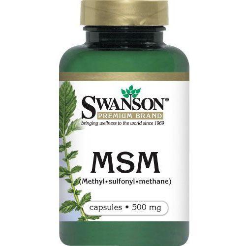 Swanson MSM (Methyl - Sulfonyl - Methane) 500mg 100kaps - suplement diety