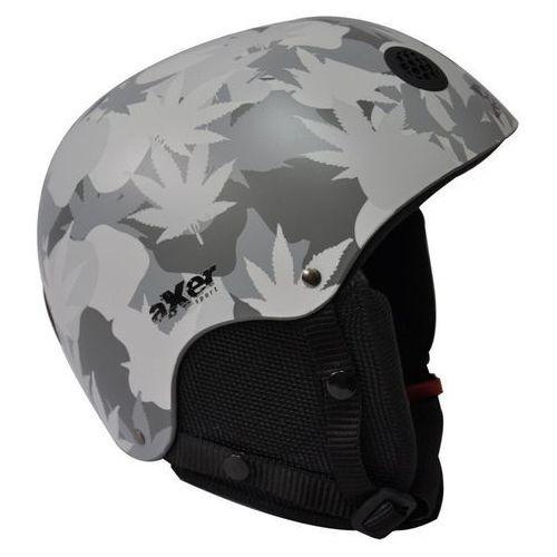 Axer sport Kask narciarski venom srebrny (rozmiar l)