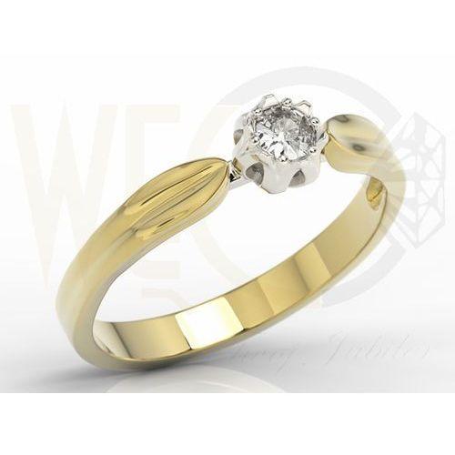 Pierścionek Zaręczynowy W Kształcie Konwalii Ap 4016zb Z żółtego