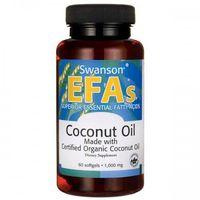 Swanson Olej z kokosa (Coconut Oil) 1000mg - (60 kap)