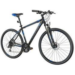 Indiana Rower x-cross 3.0 m19 czarno-niebieski | 5 lat gwarancji na ramę darmowy transport