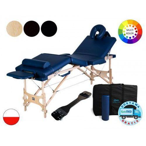 Składany stół do masażu cosmo drewniany z regulacją wysokości marki Mov