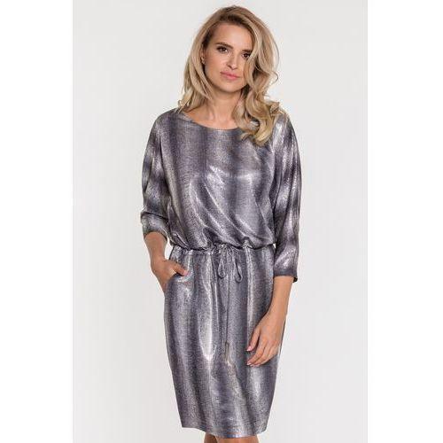 f24c5022c1 Zobacz ofertę Połyskująca srebrna sukienka z wężowym wzorem - Potis  amp   Verso