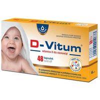 Kapsułki D-Vitum Witamina D dla niemowląt x 48 kapsułek twist-off