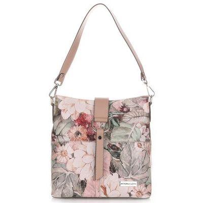 9cb4d88cecc65 biala wloska torebka listonoszka skorzana kwiaty bialy w kategorii ...