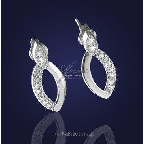 """""""ambasadorka współczesnej klasyki i elegancji"""" - kolczyki srebrne z cyrkoniami. Anka biżuteria"""