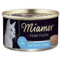 MIAMOR Feine Filets - filety mięsne smak: tuńczyk z krewetkami 6x100g