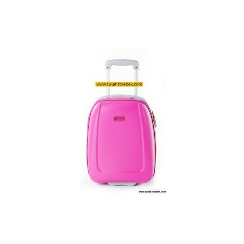 43978fc3d9421 PUCCINI walizka mała/ kabinowa wymiar akceptowany przez linię WizzAir z  kolekcji ABS01 twarda 2 koła