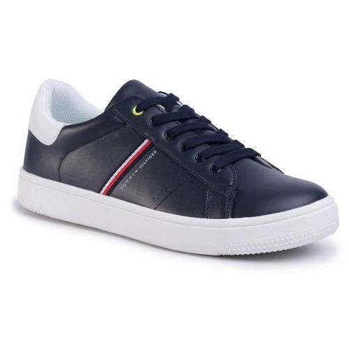 Sneakersy TOMMY HILFIGER - Low Cut Lace-Up Sneaker T3B4-30709-0621 Blue/White X007