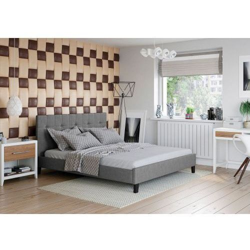 Łóżko 120x200 tapicerowane modena sawana szare marki Big meble