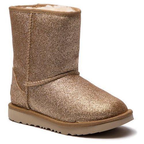 Buty UGG - Kids Classic Short II Glitter 1098491K K/Gold