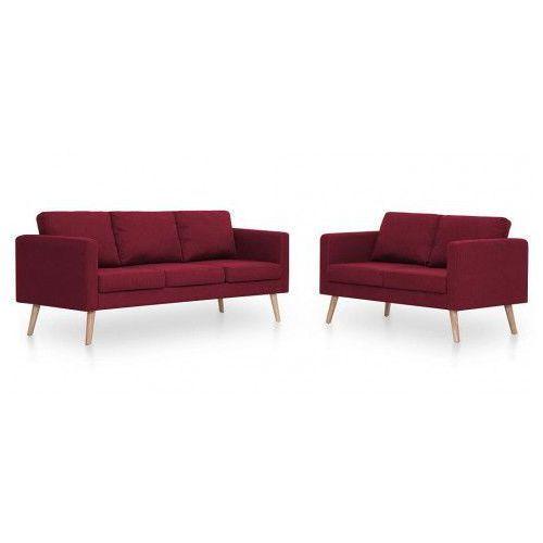 Edinos premium Komplet 2 sof wypoczynkowych bailey - czerwony