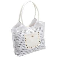 Torebka shopper bag ażurowy a4 monnari biała 3420