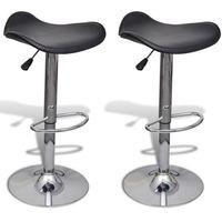 Vidaxl krzesła barowe obrotowe profilowane 2 szt. czarne