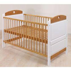 łóżeczko - tapczanik 70x140 cm biało-brązowe marki Mamo-tato
