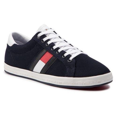 f05794772a633 Tommy Hilfiger Sneakersy TOMMY HILFIGER - Essential Flag Detail Sneaker  FM0FM02202 Midnight 403
